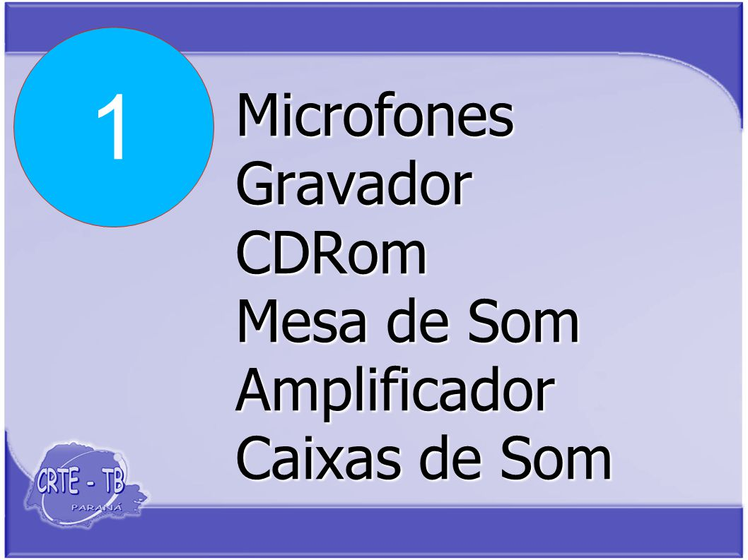 Microfones Gravador CDRom Mesa de Som Amplificador Caixas de Som 1