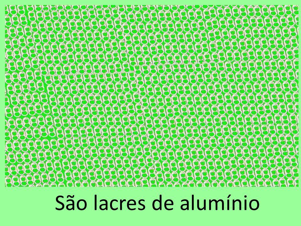 São lacres de alumínio