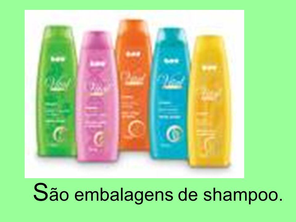 S ão embalagens de shampoo.