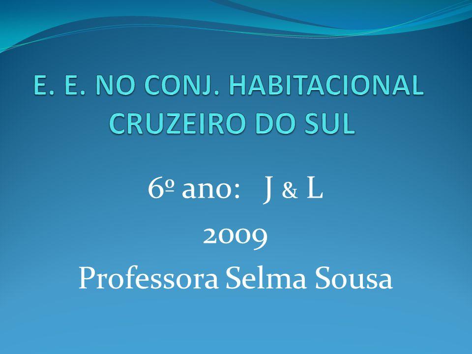 6º ano: J & L 2009 Professora Selma Sousa
