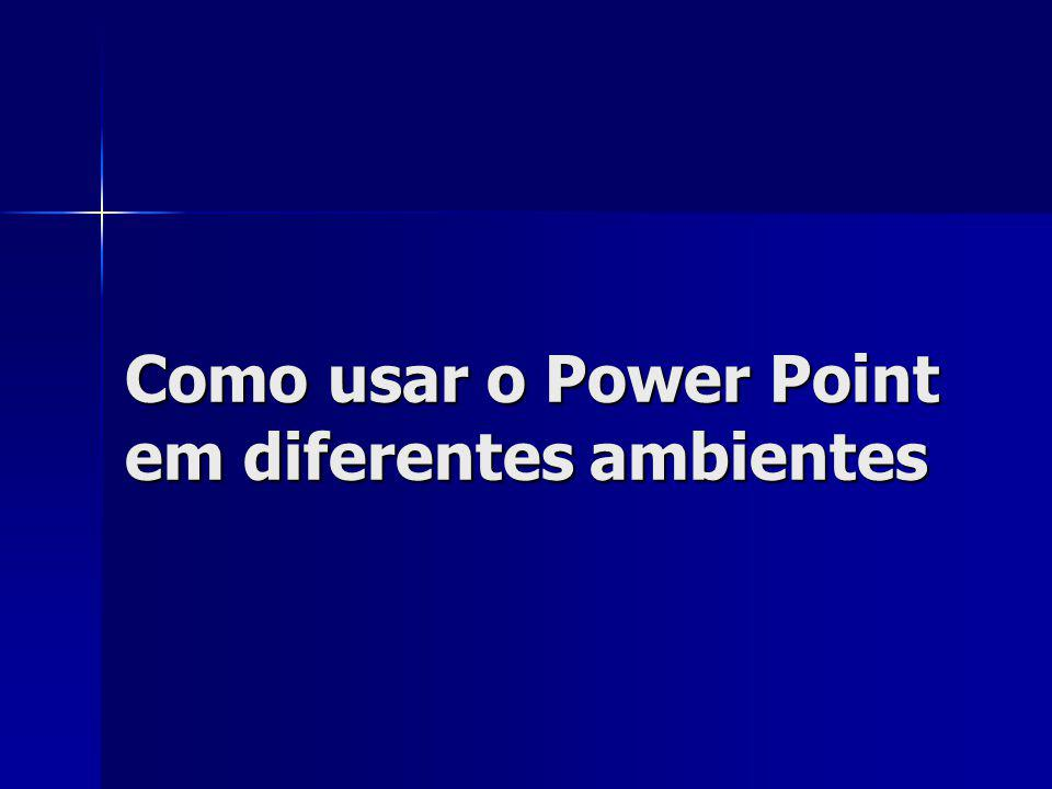 Como usar o Power Point em diferentes ambientes
