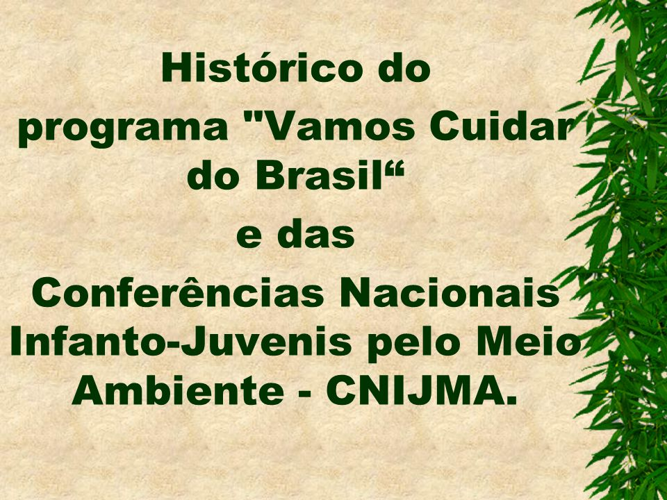 Histórico do programa