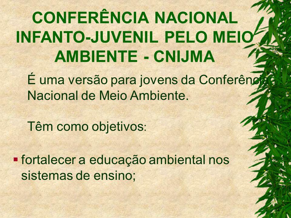 É uma versão para jovens da Conferência Nacional de Meio Ambiente.