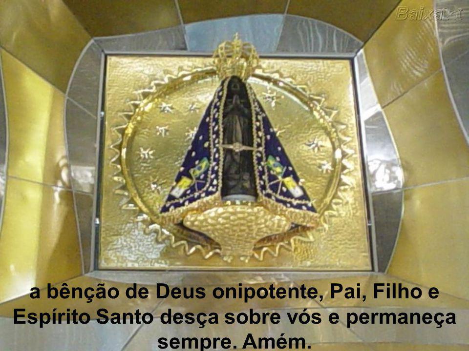 Pela intercessão de Nossa Senhora Aparecida, Rainha e Padroeira do Brasil,