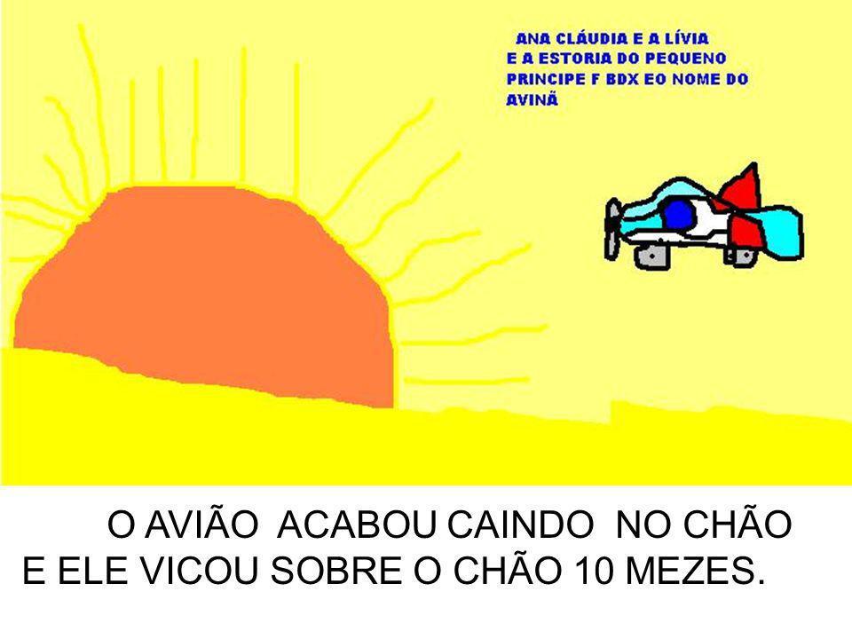 O AVIÃO ACABOU CAINDO NO CHÃO E ELE VICOU SOBRE O CHÃO 10 MEZES.