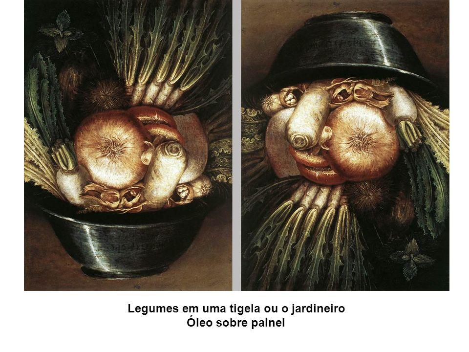 Legumes em uma tigela ou o jardineiro Óleo sobre painel