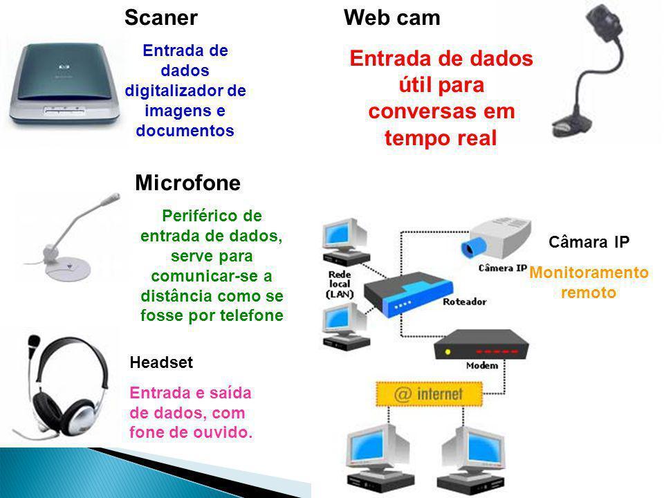 Scaner Entrada de dados digitalizador de imagens e documentos Web cam Entrada de dados útil para conversas em tempo real Microfone Periférico de entra