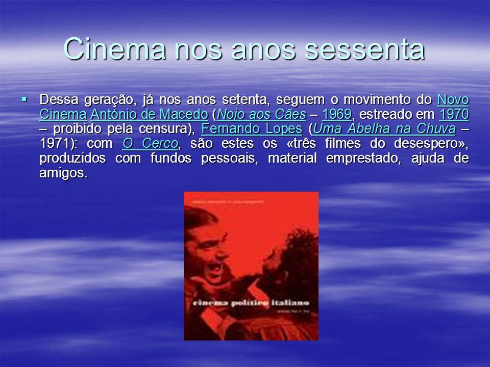 Cinema dos anos cinquenta A década de cinquenta foi um período de estagnação. António Lopes Ribeiro prossegue o seu trabalho, moralizando (Frei Luís d