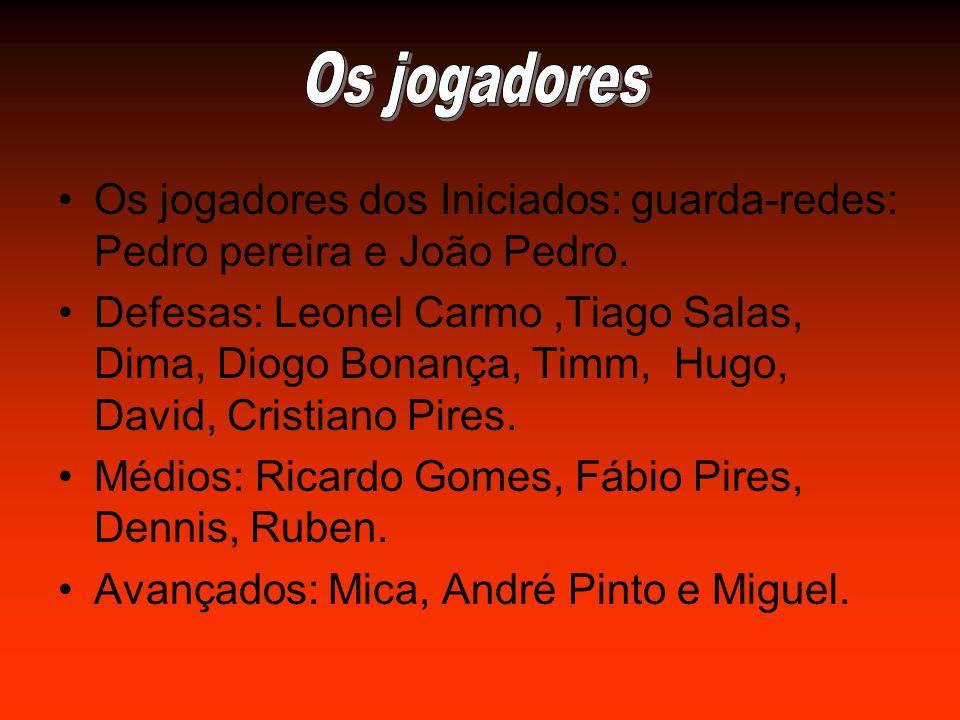 Os jogadores dos Iniciados: guarda-redes: Pedro pereira e João Pedro.