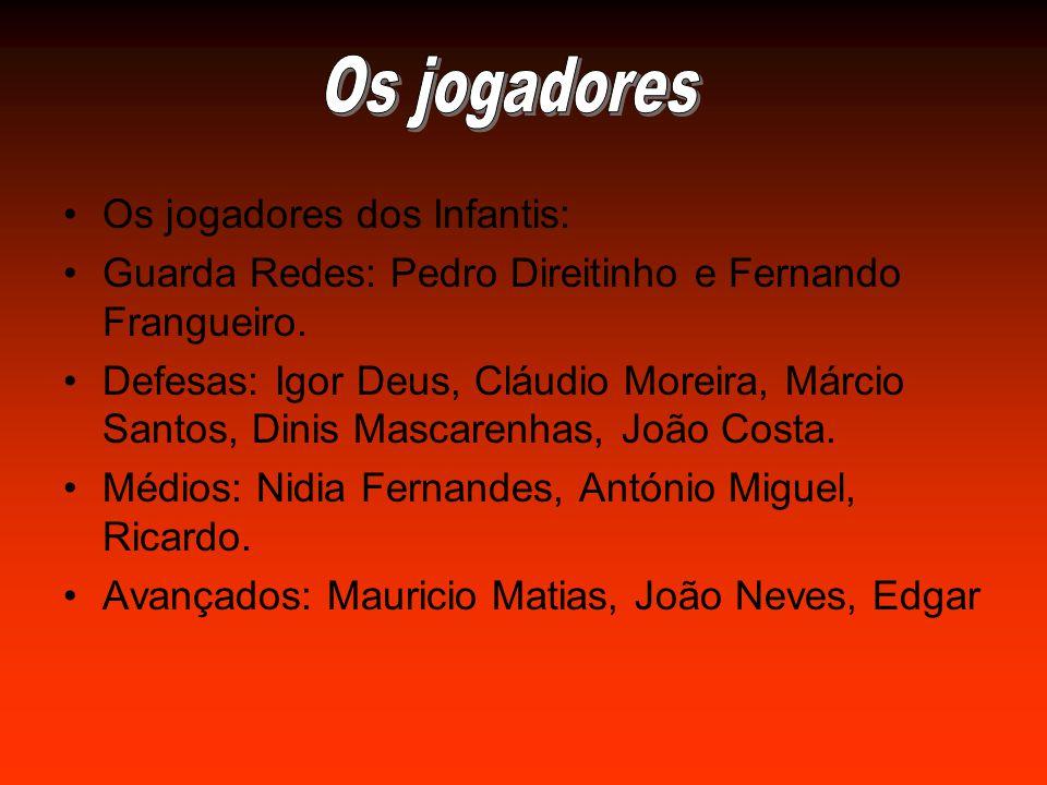 Os jogadores dos Infantis: Guarda Redes: Pedro Direitinho e Fernando Frangueiro.
