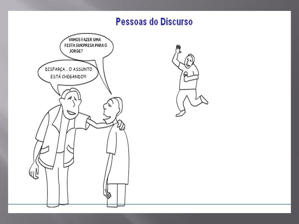 PRONOMES PESSOAIS Os pronomes pessoais substituem os nomes e indicam as pessoas do discurso.