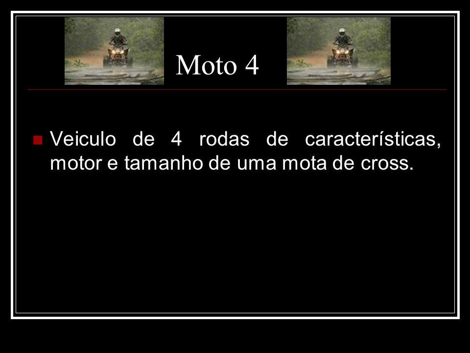 Moto 4 Veiculo de 4 rodas de características, motor e tamanho de uma mota de cross.