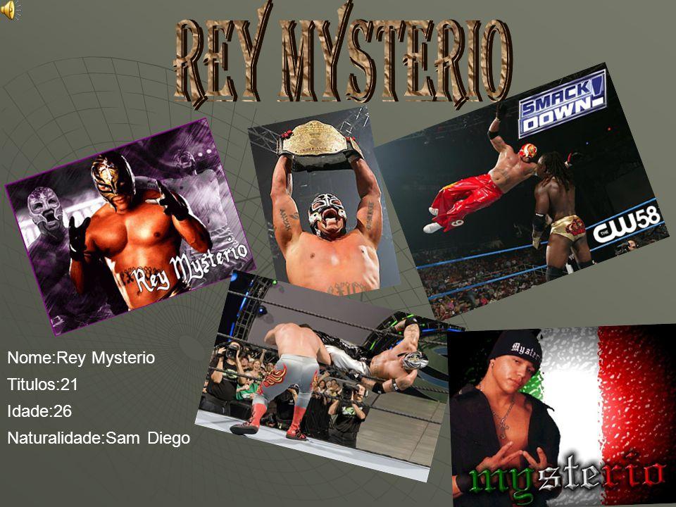 Nome:Rey Mysterio Titulos:21 Idade:26 Naturalidade:Sam Diego