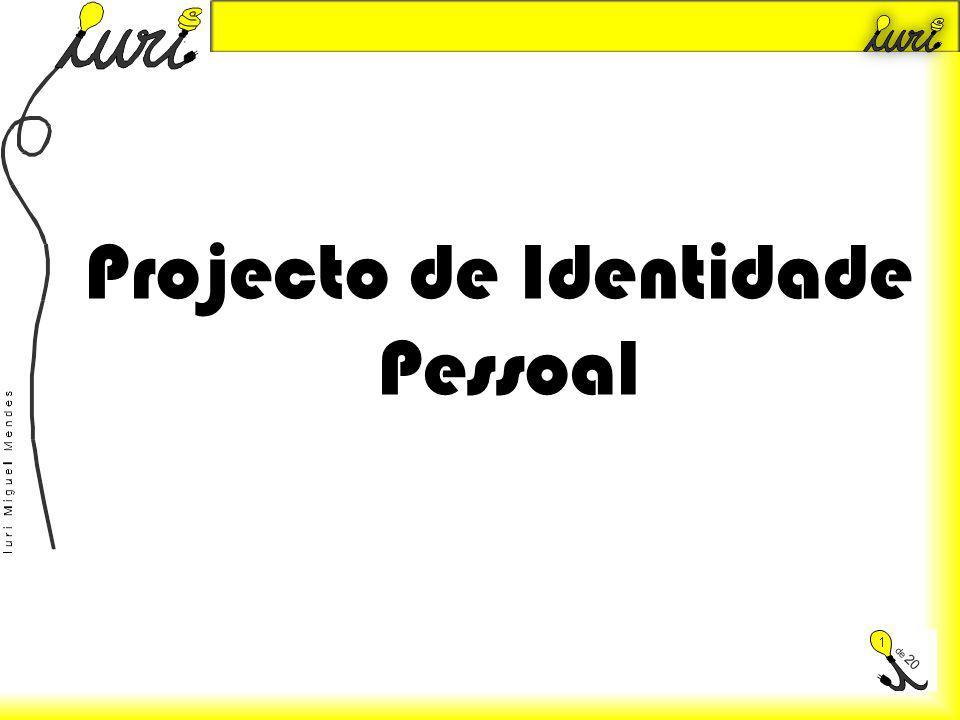 Introdução No meu projecto de identidade pessoal, irei demonstrar o que me foi proposto pela professora, para poder concretizar o trabalho.