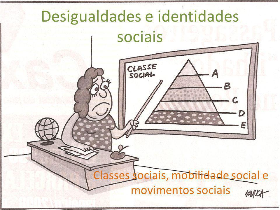 Desigualdades e identidades sociais Classes sociais, mobilidade social e movimentos sociais