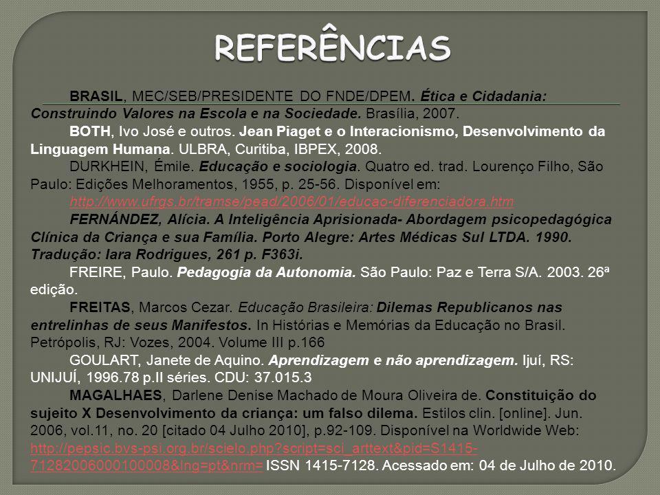 BRASIL, MEC/SEB/PRESIDENTE DO FNDE/DPEM.