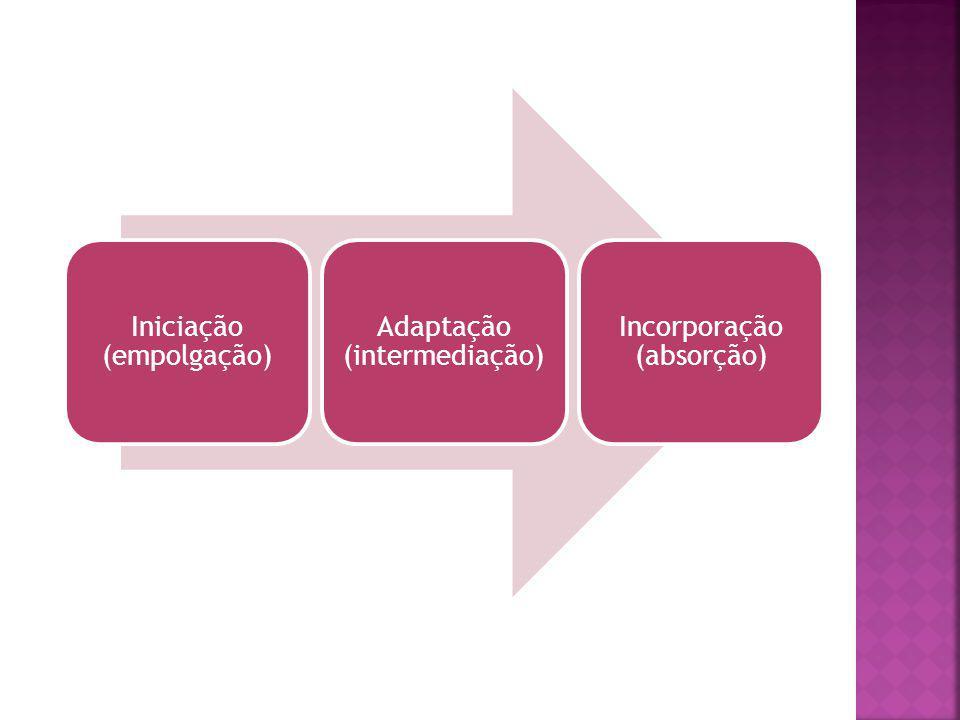 Iniciação (empolgação) Adaptação (intermediação) Incorporação (absorção)