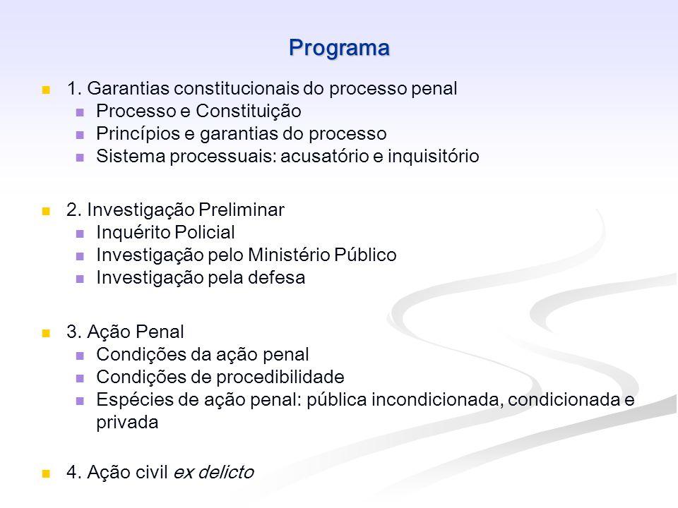 Bibliografia Geral BADARÓ, Gustavo Henrique R.I. Processo penal.