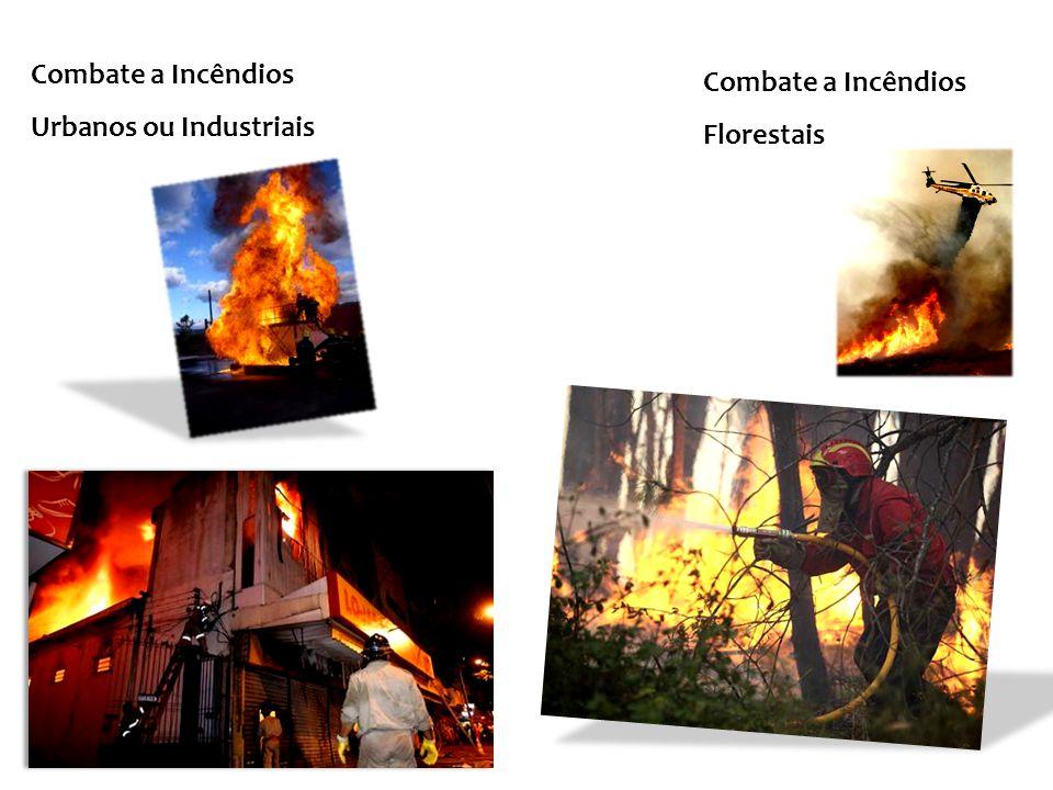 Combate a Incêndios Urbanos ou Industriais Combate a Incêndios Florestais