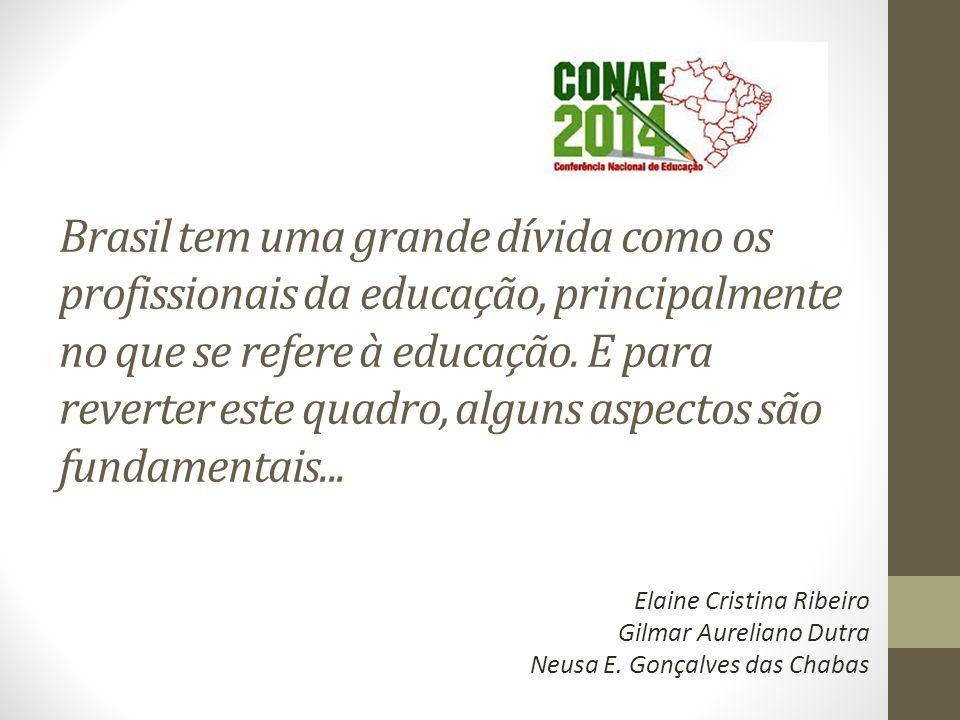 Brasil tem uma grande dívida como os profissionais da educação, principalmente no que se refere à educação.