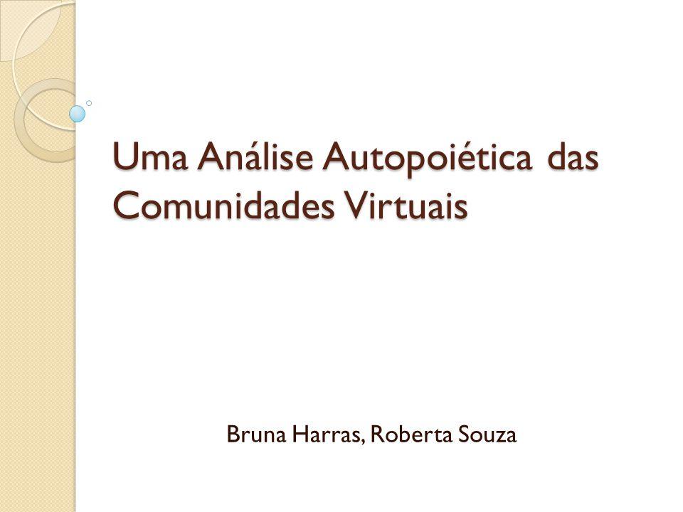 Uma Análise Autopoiética das Comunidades Virtuais Bruna Harras, Roberta Souza