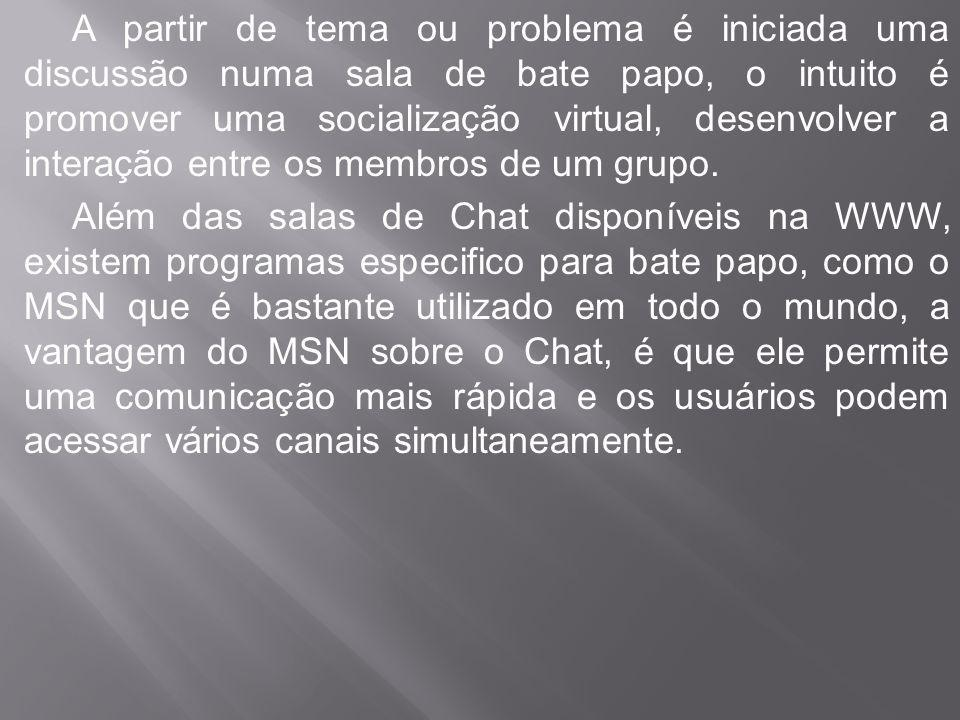 Outra vantagem do MSN, é que a qualquer momento é possível bloquear o contato com usuários com os quais você não esta interessado em manter comunicação.
