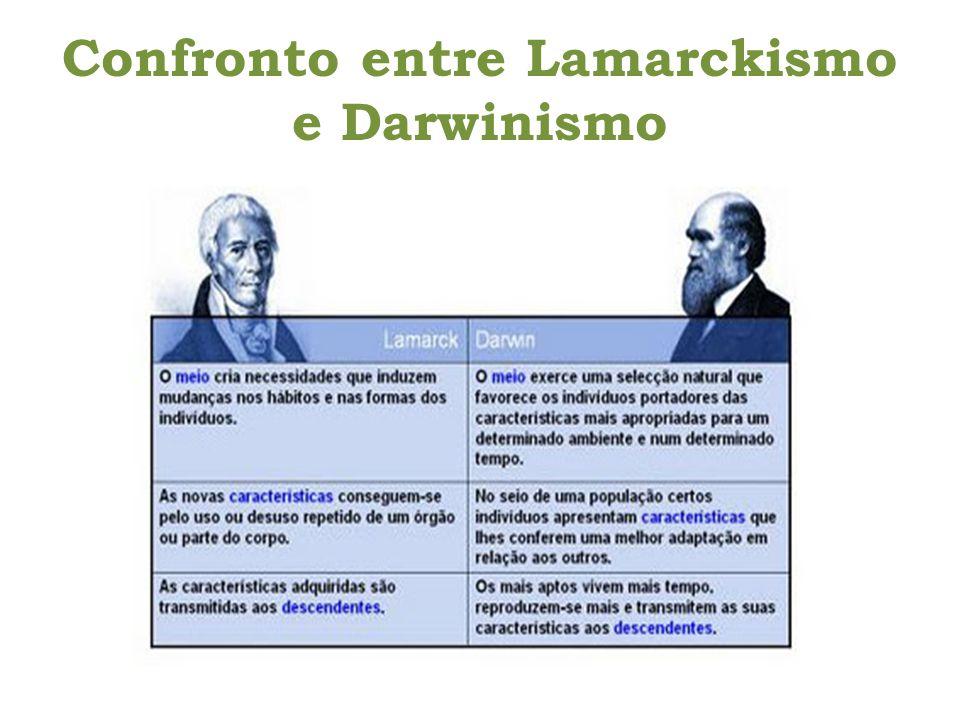 Confronto entre Lamarckismo e Darwinismo