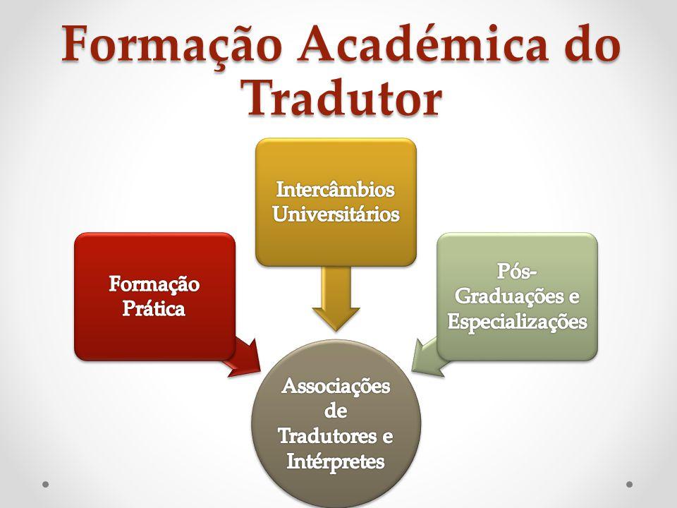 Formação Académica do Tradutor