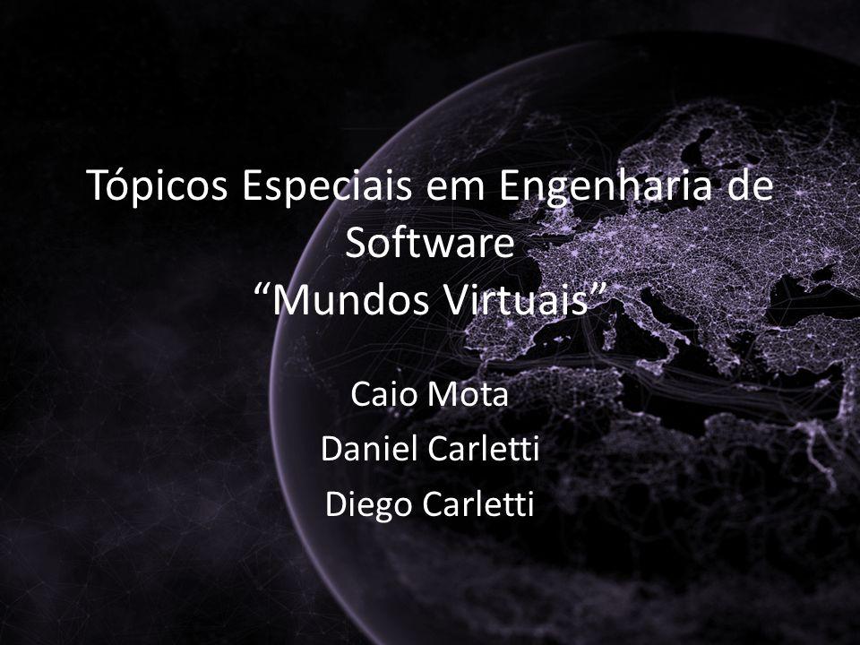 Tópicos Especiais em Engenharia de Software Mundos Virtuais Caio Mota Daniel Carletti Diego Carletti