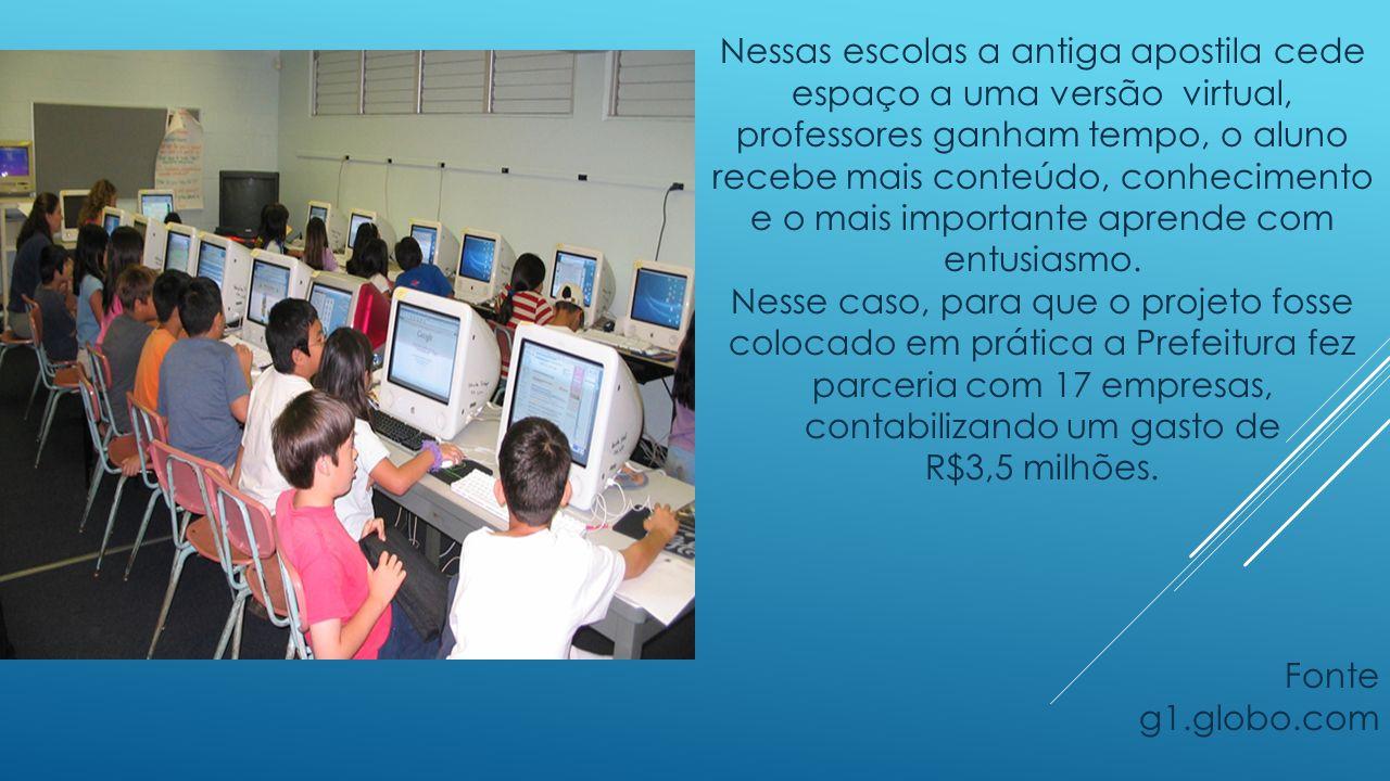 Nessas escolas a antiga apostila cede espaço a uma versão virtual, professores ganham tempo, o aluno recebe mais conteúdo, conhecimento e o mais impor