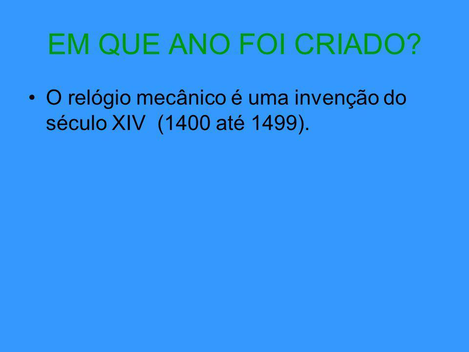 SITES PESQUISADOS: http://adenoma.sites.uol.com.br/Mecanico.