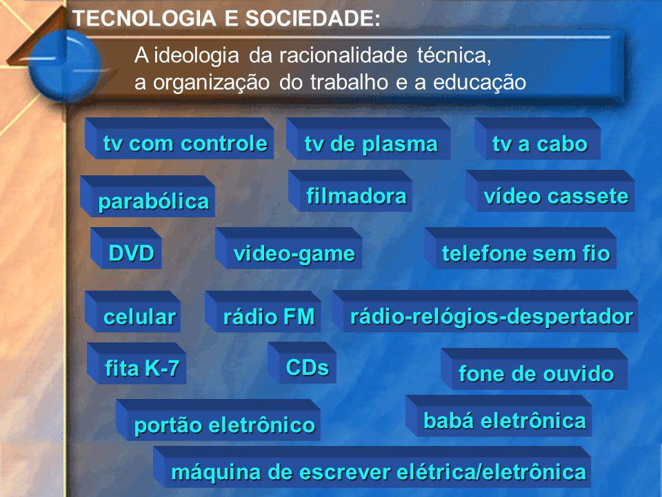TECNOLOGIA E SOCIEDADE: A ideologia da racionalidade técnica, a organização do trabalho e a educação tv com controle tv de plasma tv a cabo parabólica