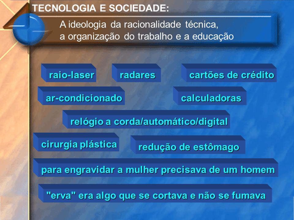 TECNOLOGIA E SOCIEDADE: A ideologia da racionalidade técnica, a organização do trabalho e a educação raio-laserradares cartões de crédito ar-condicion