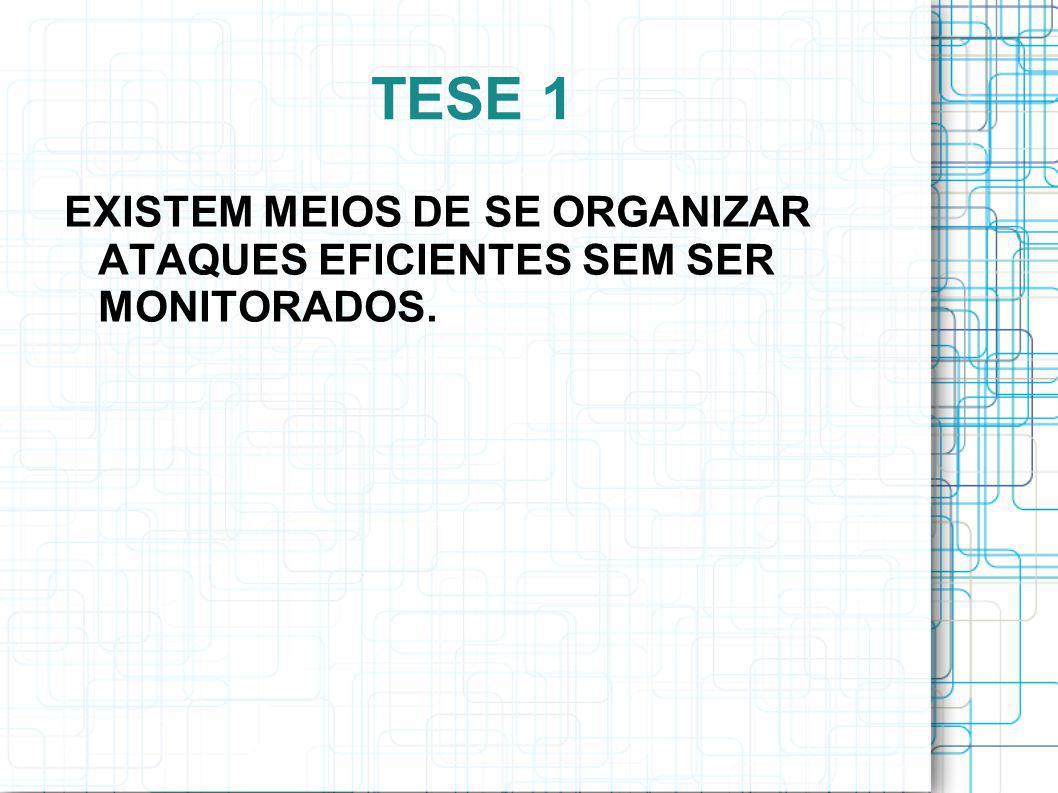 TESE 1 EXISTEM MEIOS DE SE ORGANIZAR ATAQUES EFICIENTES SEM SER MONITORADOS.