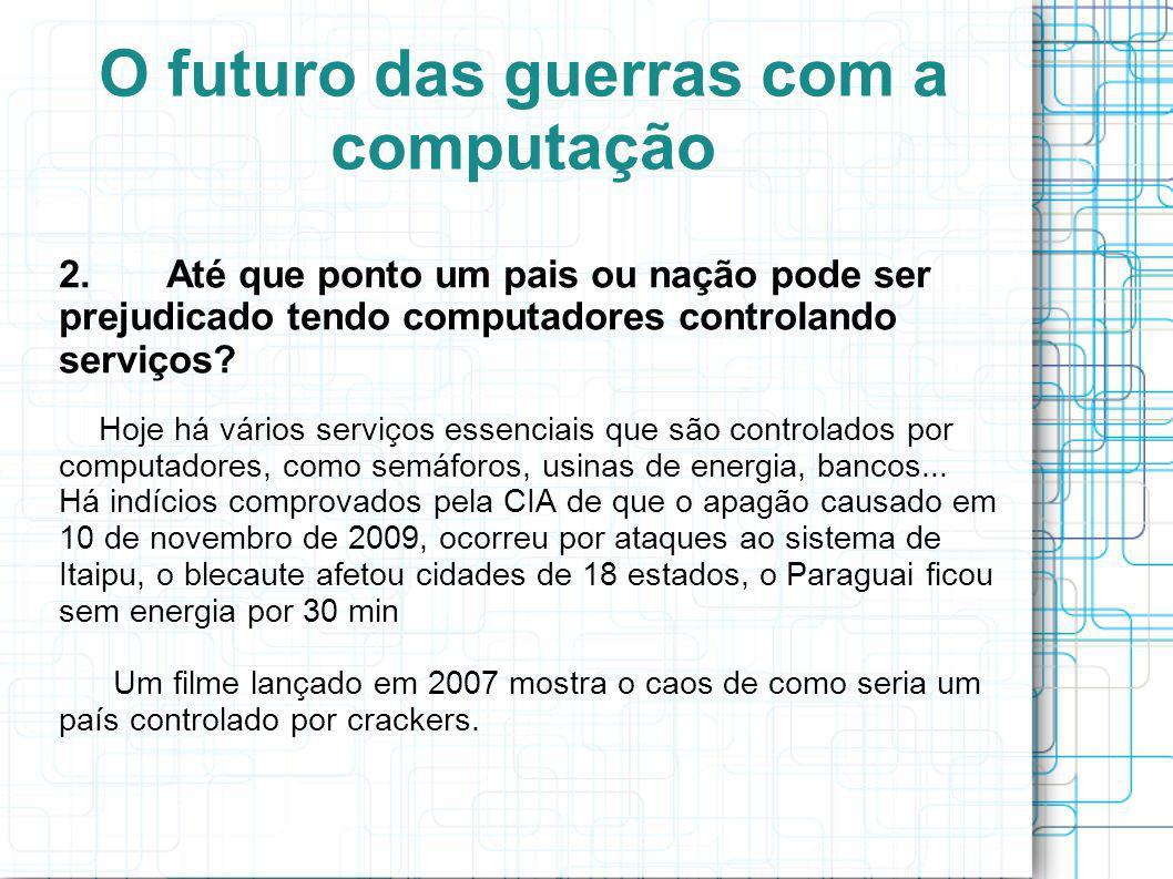 O futuro das guerras com a computação 3.