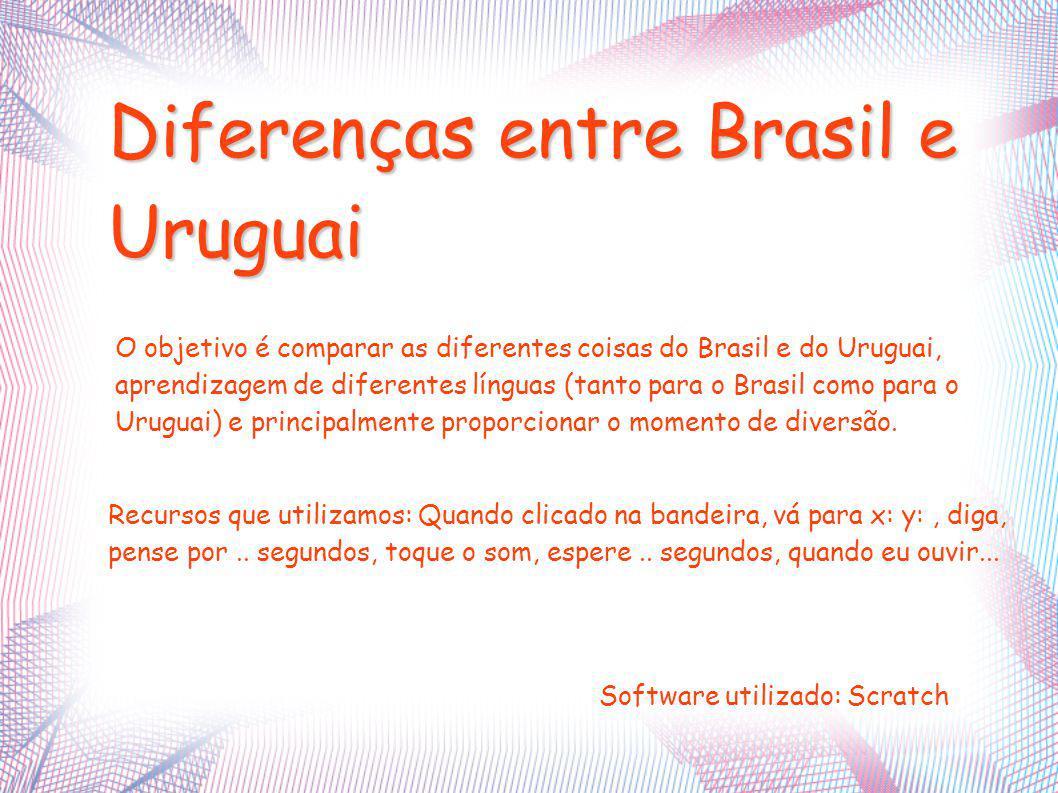 O objetivo é comparar as diferentes coisas do Brasil e do Uruguai, aprendizagem de diferentes línguas (tanto para o Brasil como para o Uruguai) e principalmente proporcionar o momento de diversão.