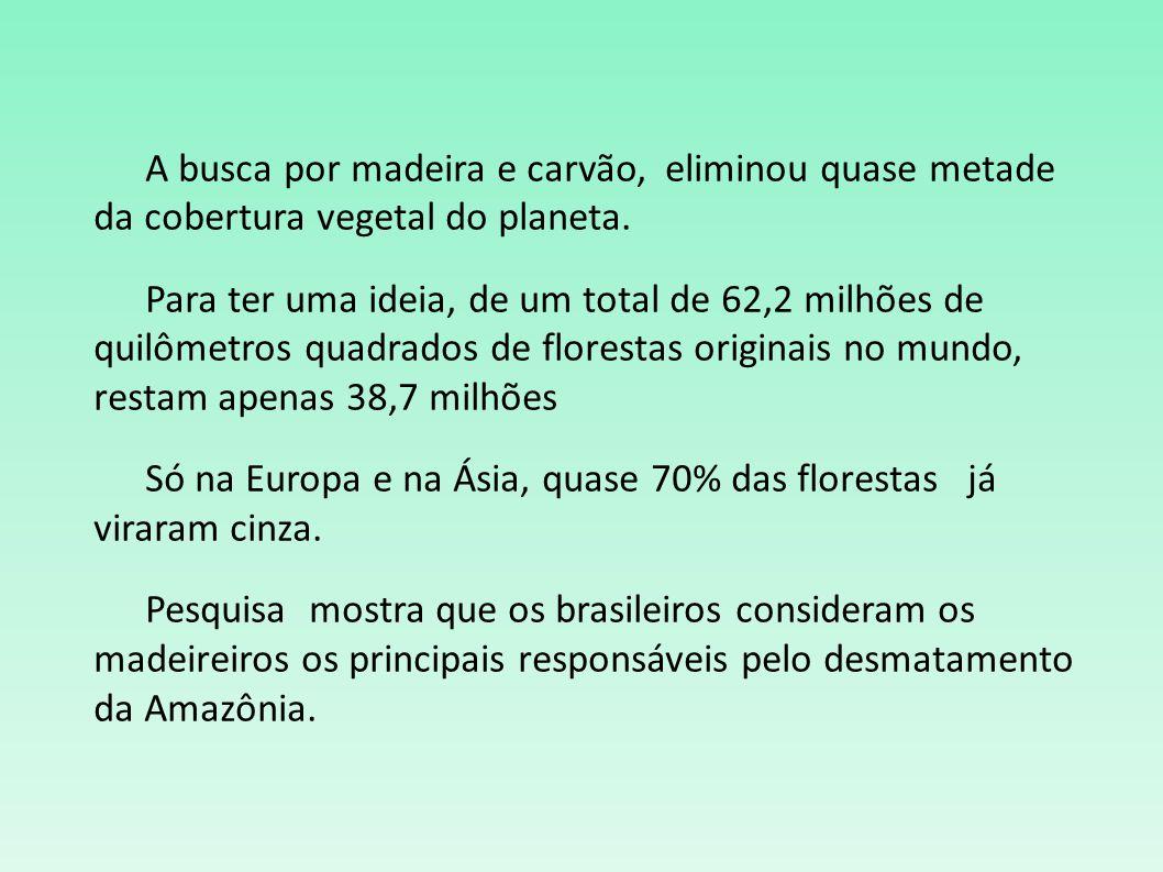 O desmatamento é a retirada, o corte das árvores das floresta e é principalmente por causa dos humanos.
