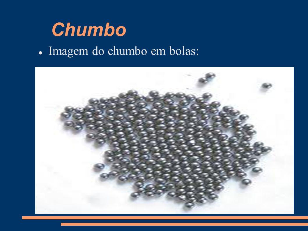 Chumbo Imagem do chumbo em bolas: