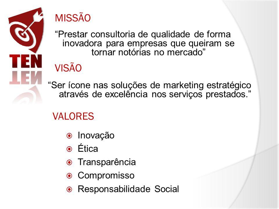 Prestar consultoria de qualidade de forma inovadora para empresas que queiram se tornar notórias no mercado MISSÃO VISÃO Ser ícone nas soluções de mar