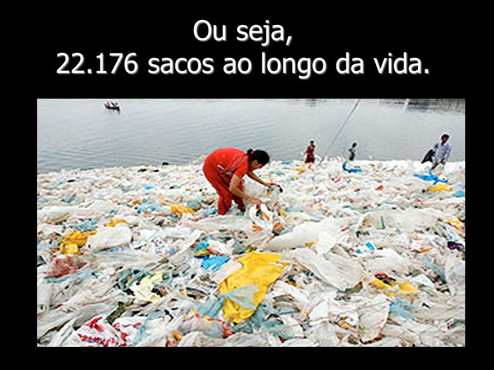 Ou seja, 22.176 sacos ao longo da vida.