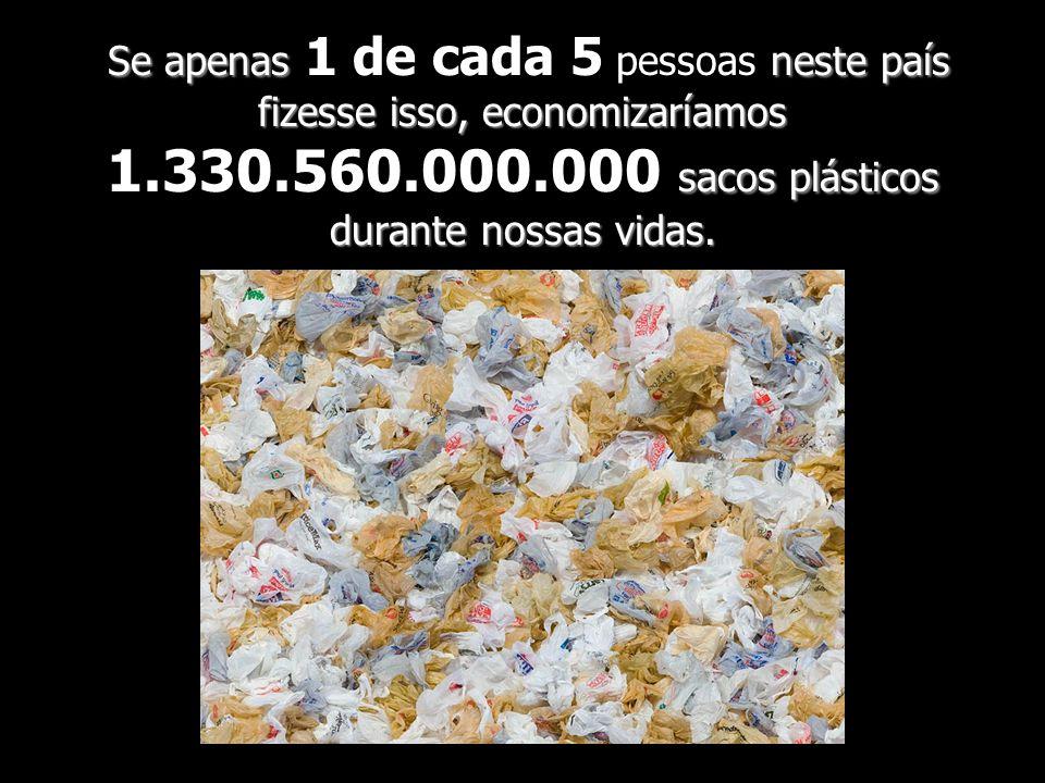 Se apenas neste país fizesse isso, economizaríamos sacos plásticos durante nossas vidas. Se apenas 1 de cada 5 pessoas neste país fizesse isso, econom