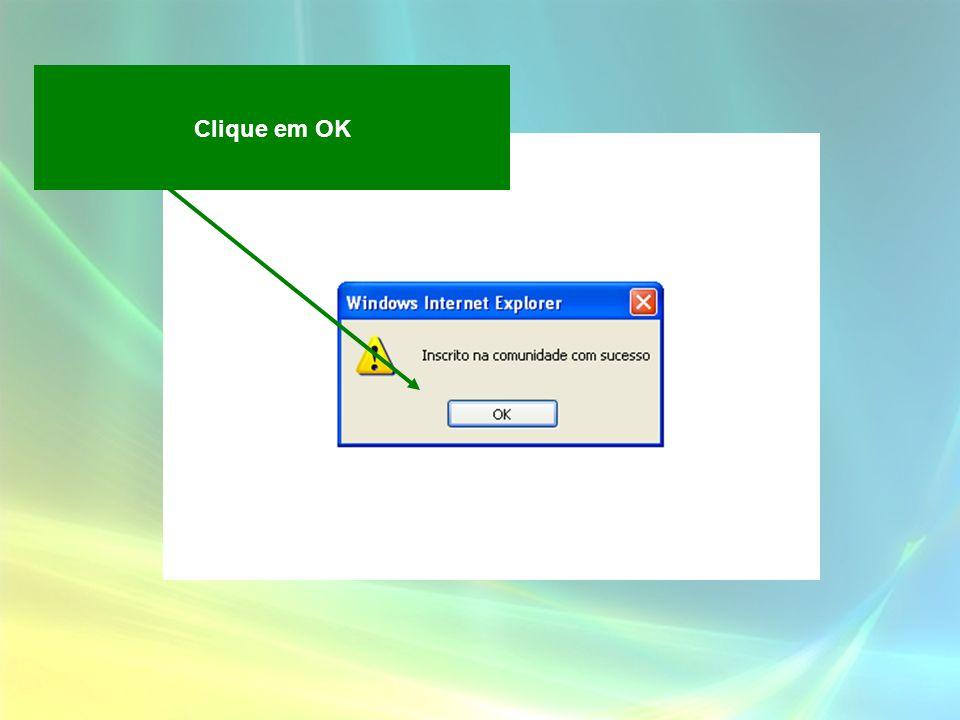 Clique em OK