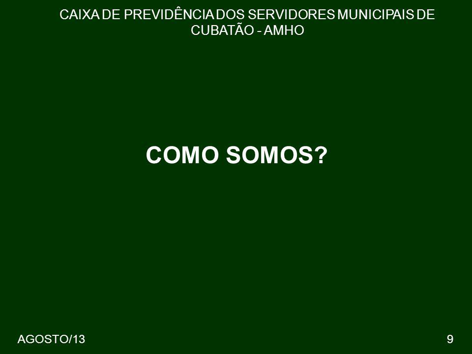 40 CAIXA DE PREVIDÊNCIA DOS SERVIDORES MUNICIPAIS DE CUBATÃO - AMHO AGOSTO/13