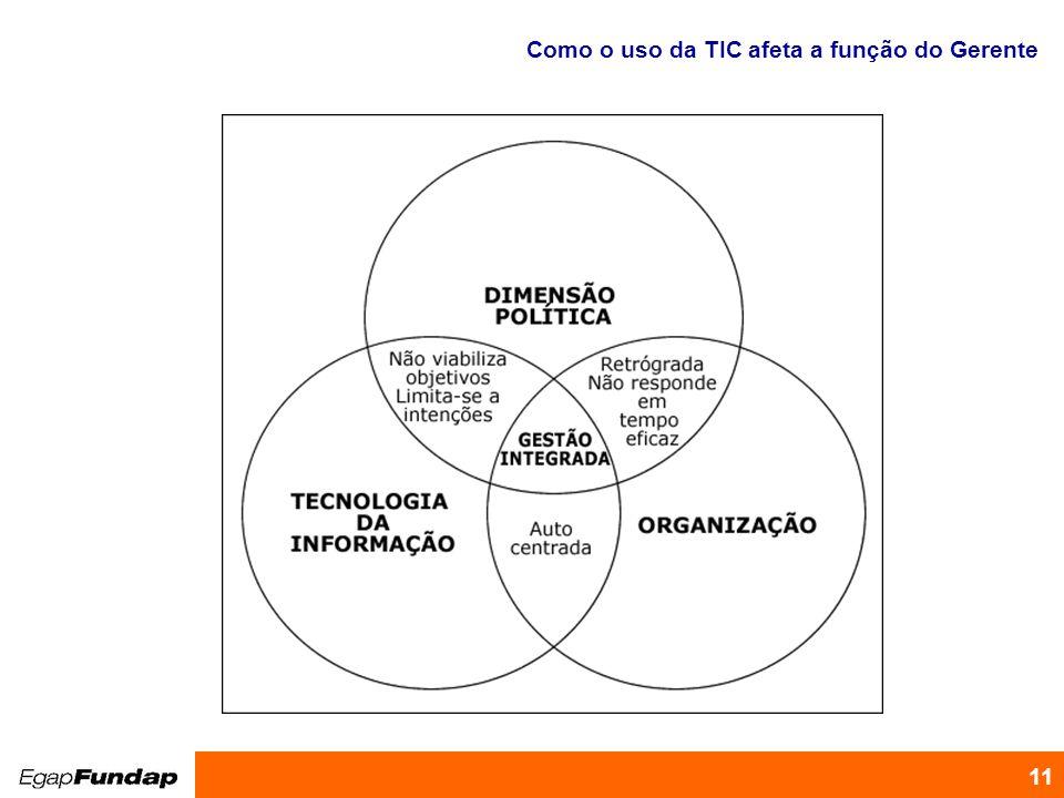 Programa de Desenvolvimento Gerencial 11 Como o uso da TIC afeta a função do Gerente