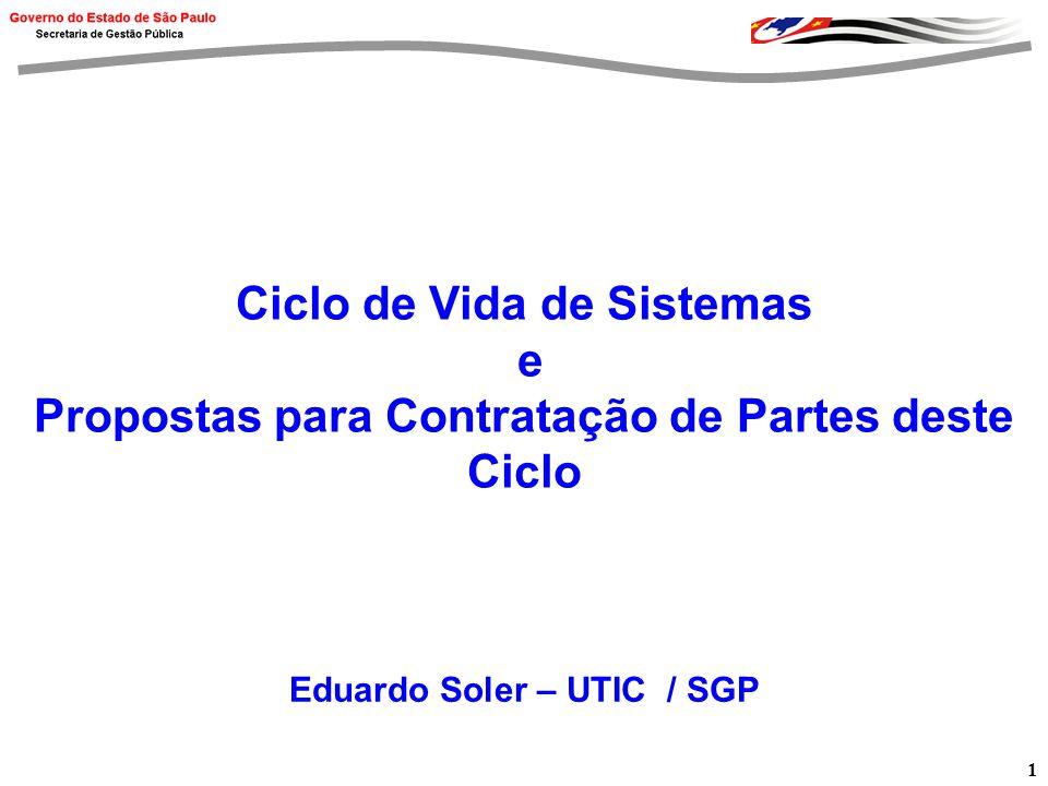 2 Agenda Ciclo de Vida de Sistemas Custos de Manutenção Tipos de Manutenção Proposta para Contratação de Partes do Ciclo de Vida