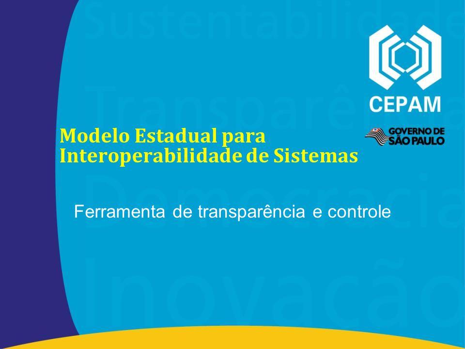 Modelo Estadual para Interoperabilidade de Sistemas Ferramenta de transparência e controle