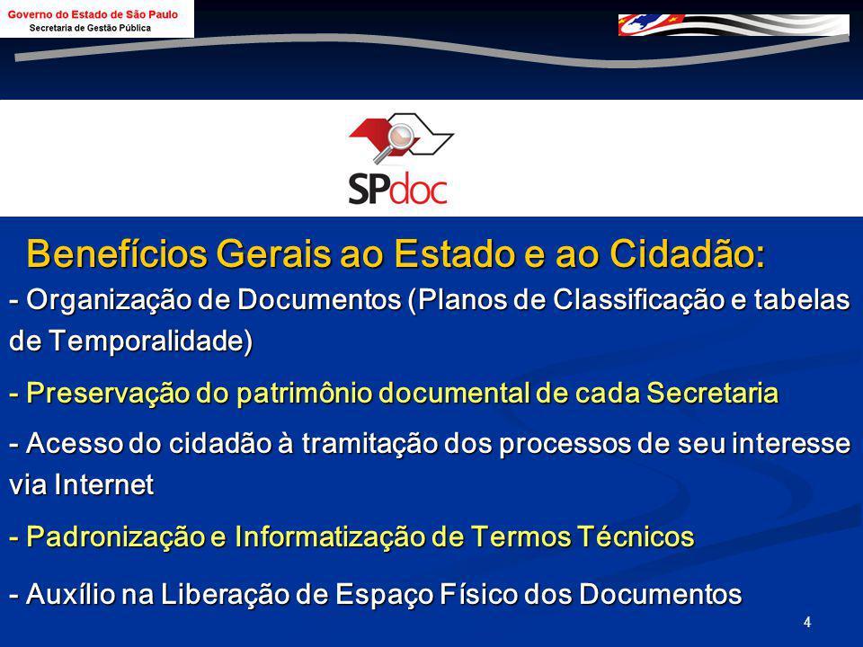 3 Objetivos: > Integração dos órgãos e informações (e-gov) > Transparência das ações administrativas > Integração dos arquivos e protocolos > Solução