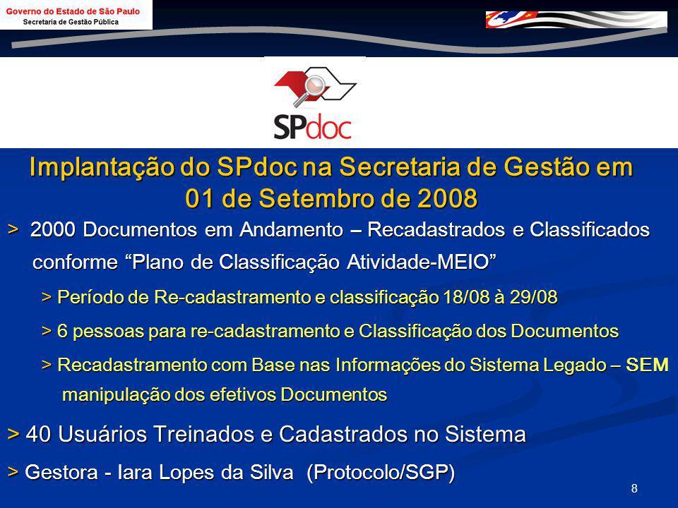 7 Implantação da Solução: Primeiras Secretarias Casa Civil Casa Civil Comunicação Comunicação Fazenda Fazenda Gestão Pública Gestão Pública Meio Ambie