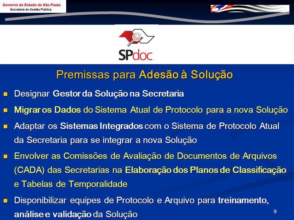 8 Implantação do SPdoc na Secretaria de Gestão em 01 de Setembro de 2008 > 2000 Documentos em Andamento – Recadastrados e Classificados conforme Plano