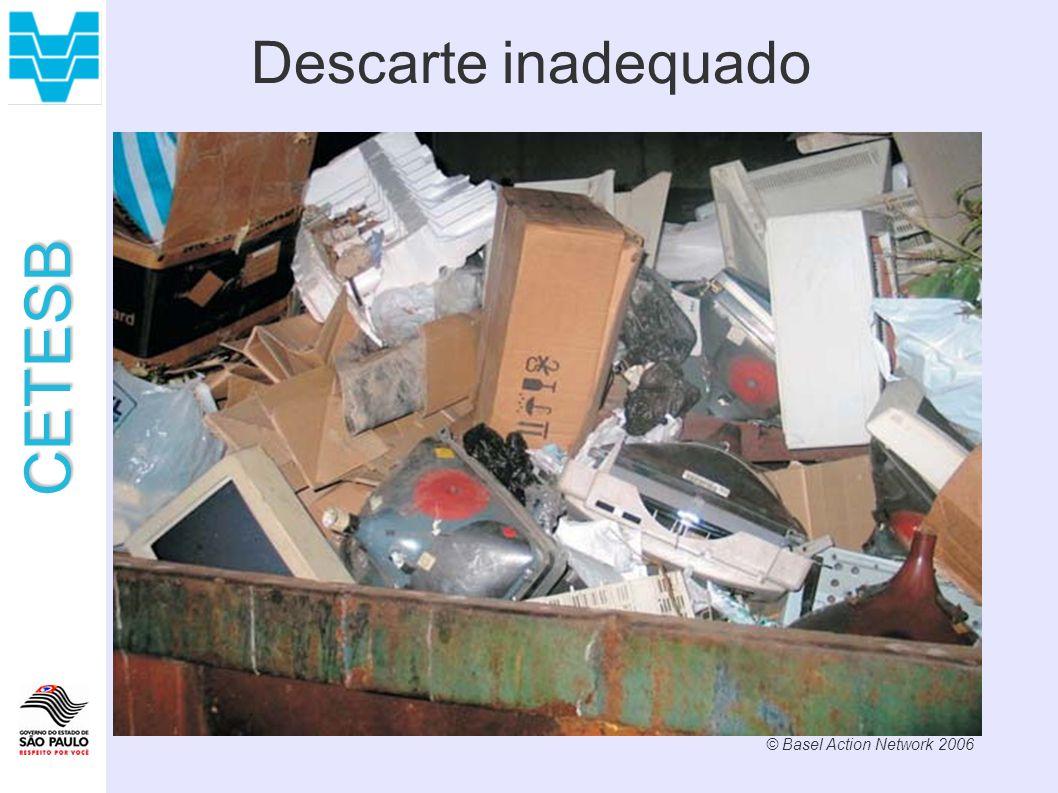 CETESB Descarte inadequado © Basel Action Network 2006